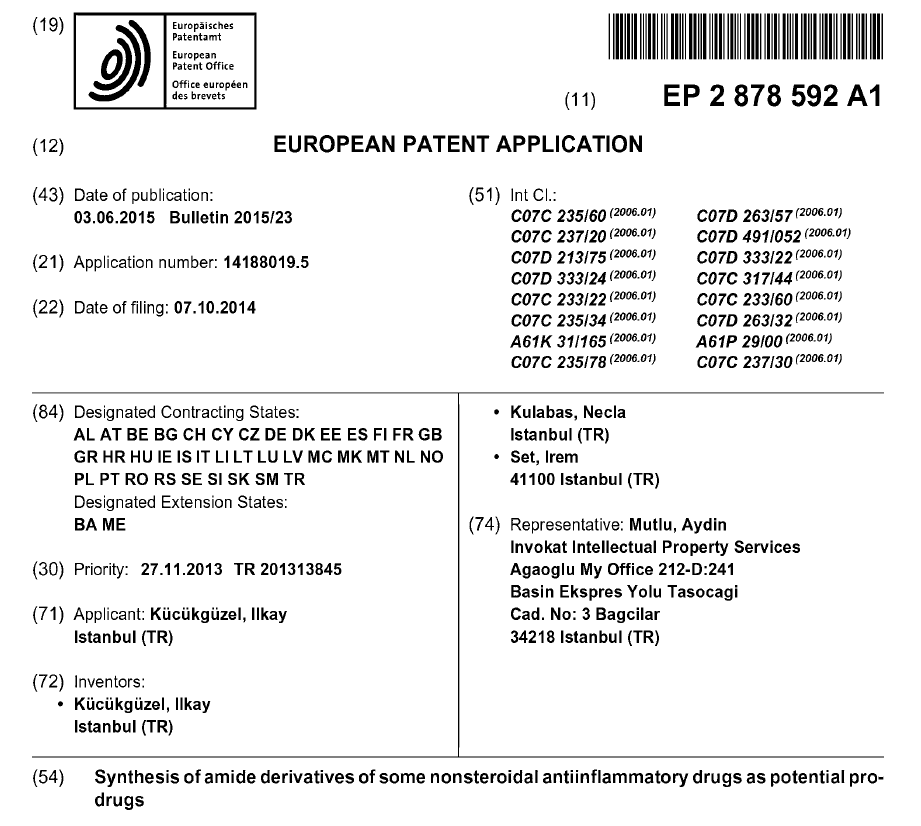 Our patent on new anti-inflammatory agents has been granted.